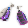 #C5 Wings Teardrop Purple Earrings. $145. Polymer with sterling silver posts. Call Smith Galleries at 1.800.272.3870 to order.