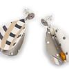 #A8 Wings Teardrop Neutral Earrings.
