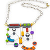 #B8 Deco Shapes Necklace (Reversable). $465. Polymer and stainless steel. Call Smith Galleries at 1.800.272.3870 to order.