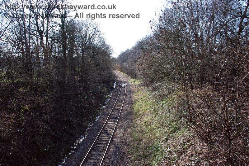 The goods line runs away west towards the main line at Copyhold Junction.
