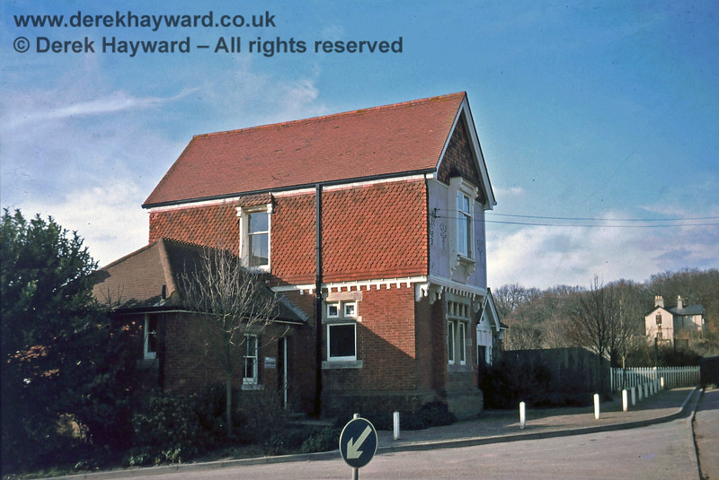 Ardingly Station building.  Nick Mander retains all rights to this image, which was taken in about 1975.
