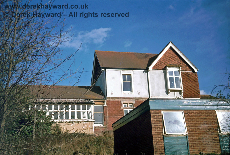The rear of Ardingly Station building, photographed from platform level.  Nick Mander retains all rights to this image, which was taken in about 1975.