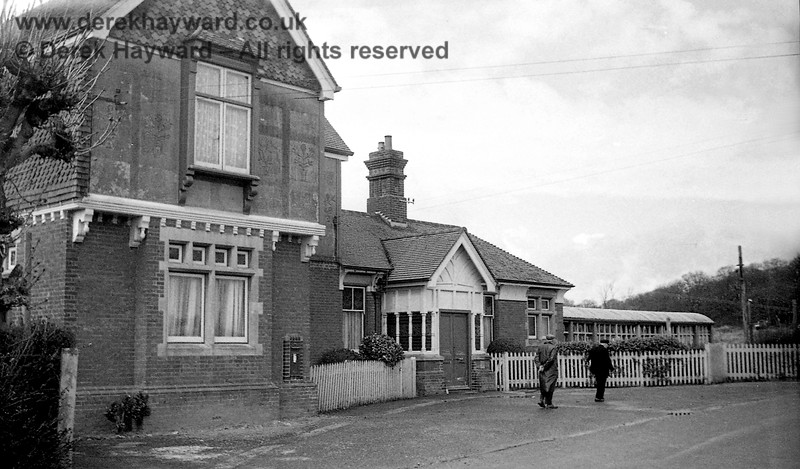 The entrance to Ardingly Station captured on 12 April 1965 in images taken by John Attfield.  John retains all rights to these images but has kindly allowed me to use them on my site.  On the right is part of the footbridge which took passengers down to the platforms but this no longer survives.  The platforms appear in subsequent photos.