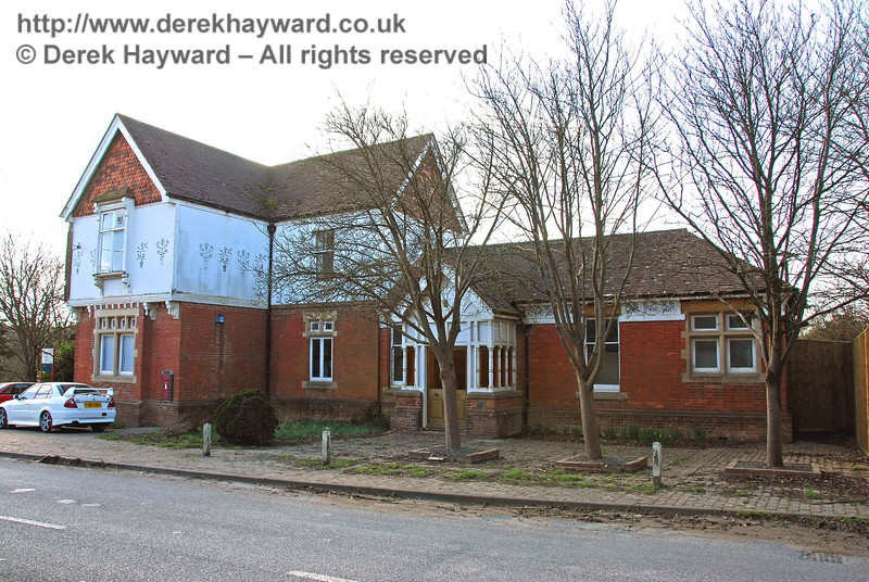 Ardingly Station building, now a Hanson office, looking south west.