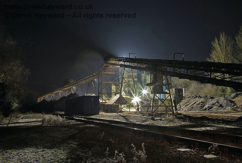 The Ardingly plant at night.  Adrian Backshall retains all rights to this image.