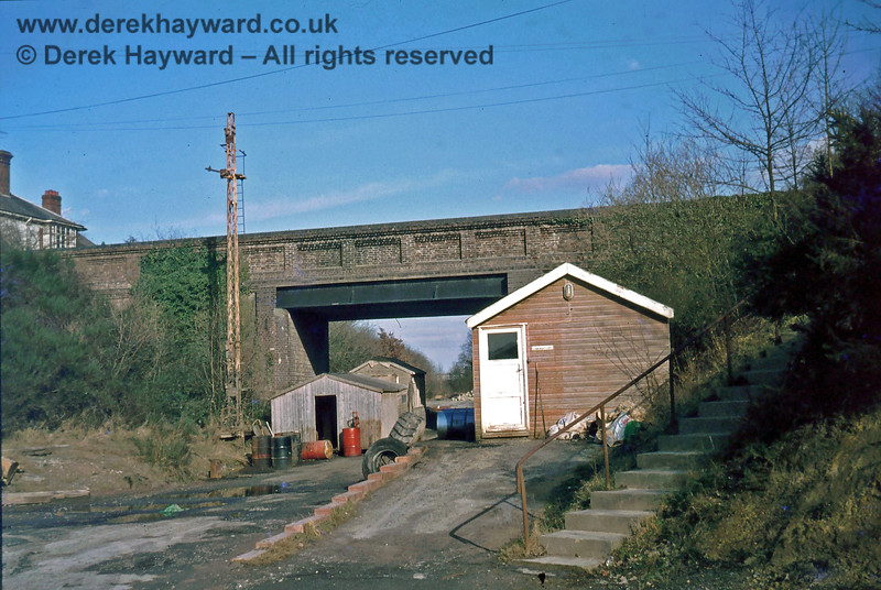 The remains of the westbound platform at Ardingly station, photographed in about 1975 by Nick Mander who retains all rights to this image.
