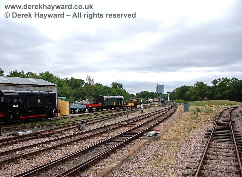 A general view of the sidings to the south of the Carriage and Wagon works, looking south.  15.08.2009