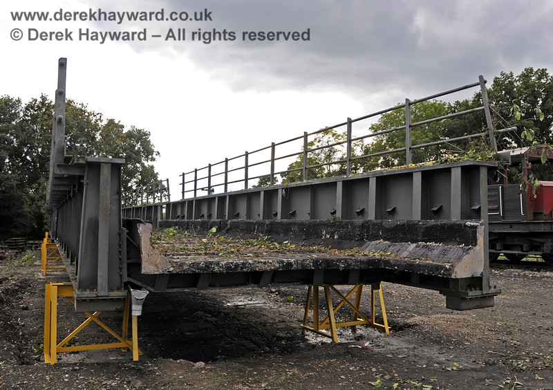 In October 2013 bridge sections were delivered to the down yard at Horsted Keynes which might, in the future, be used to span the gap on the Ardingly Branch west of Horsted Keynes Station.  06.10.2013  9776