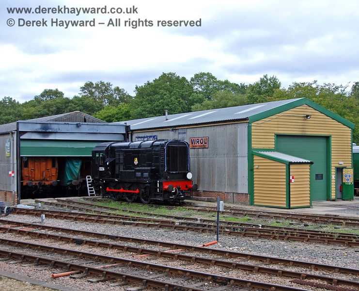 Looking back at the Carriage and Wagon works, with the Victorian coaches stored in the nearest road, out of the weather.  15.08.2009