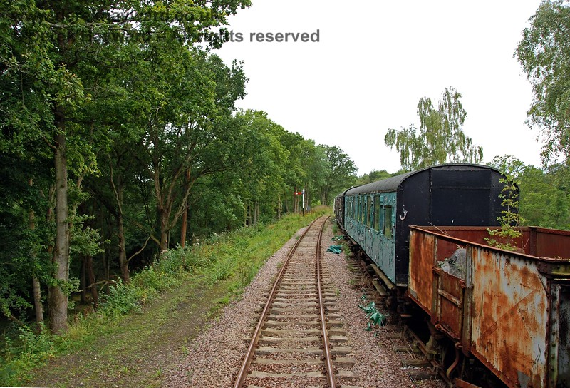 Some old goods wagons are also part of the line in the adjacent siding. This one appears to need some care and attention, especially since a small tree appears to be growing inside it! 15.08.2009