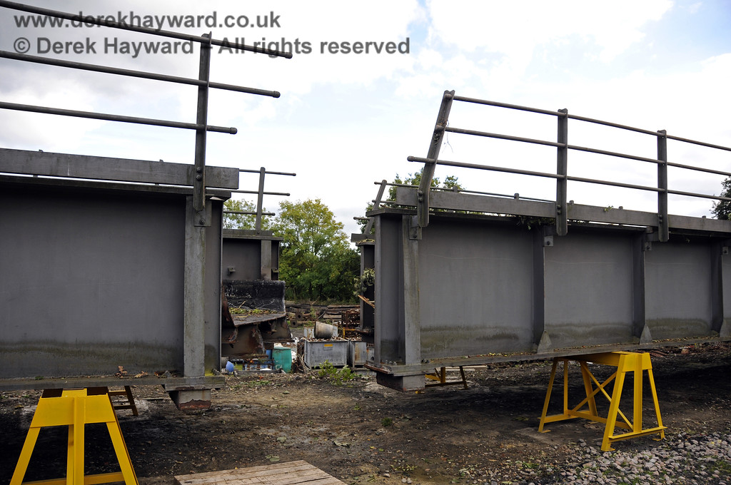 In October 2013 bridge sections were delivered to the down yard at Horsted Keynes which might, in the future, be used to span the gap on the Ardingly Branch west of Horsted Keynes Station.  06.10.2013  9778