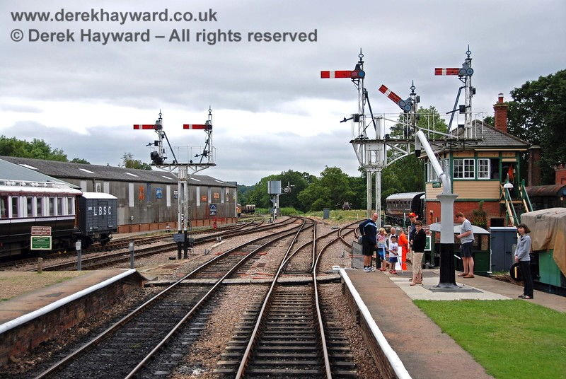 A sight you don't see often from the front of a train. The points set for Ardingly and the branch starter cleared.  15.08.2009