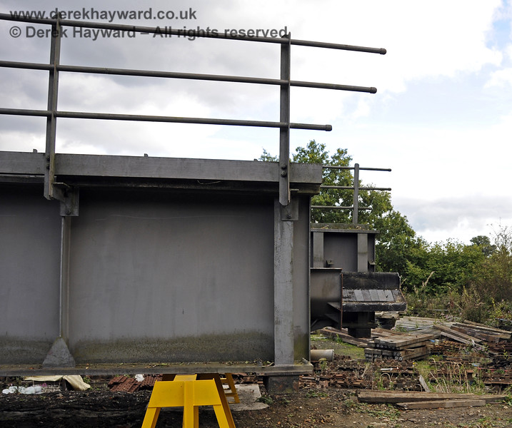 In October 2013 bridge sections were delivered to the down yard at Horsted Keynes which might, in the future, be used to span the gap on the Ardingly Branch west of Horsted Keynes Station.  06.10.2013  9779
