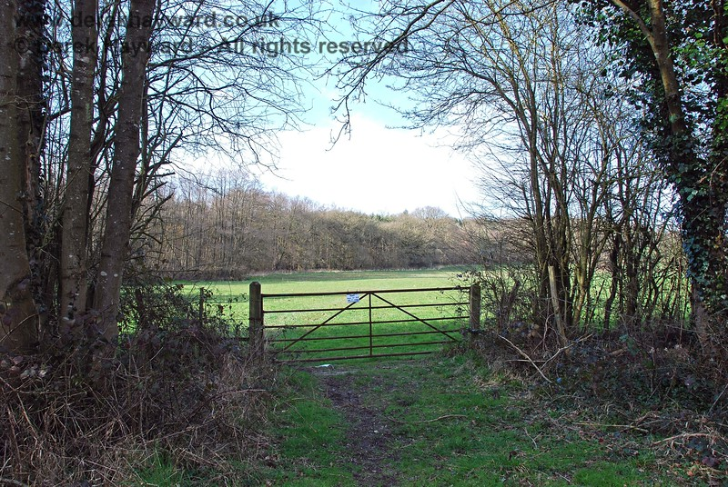The reason for the cleared trackbed at this point is a farm access on the north side of the trackbed.  Access to this gate is via the cleared trackbed.