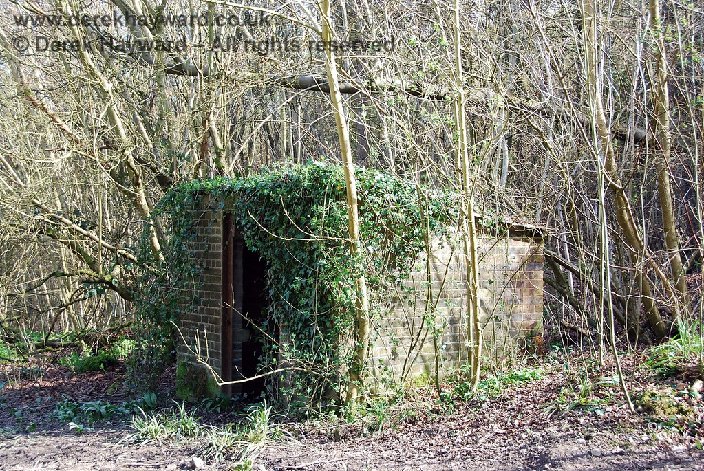 This lineside hut was overgrown, but in surprisingly good condition, perhaps due to it's remote location.