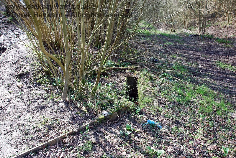 It can be seen that at one time the flow of water was successfully diverted into this trackside drain, one of the few remaining railway relics found.