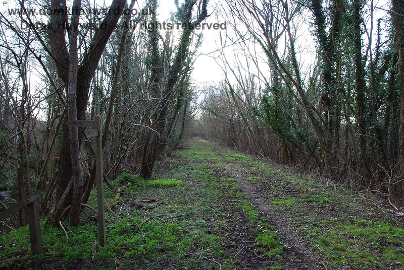 Turning round. this view looks west towards Ardingly Station from the end of the permissive footpath.