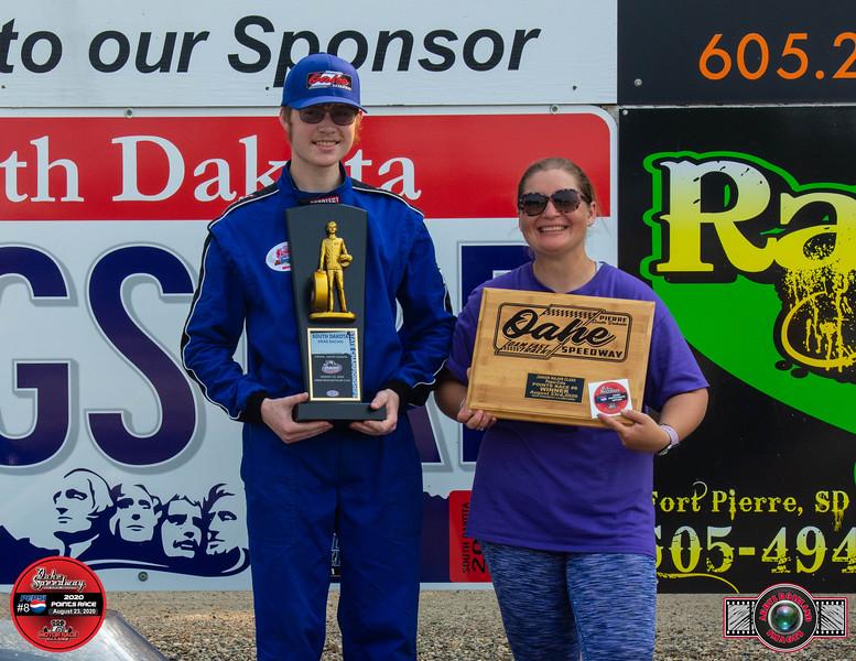 Evan Huse, Onida, SD ~ Winner ~ South Dakota State Drag Racing Major Champion /L&O Acres Junior Major Pepsi Pts #8