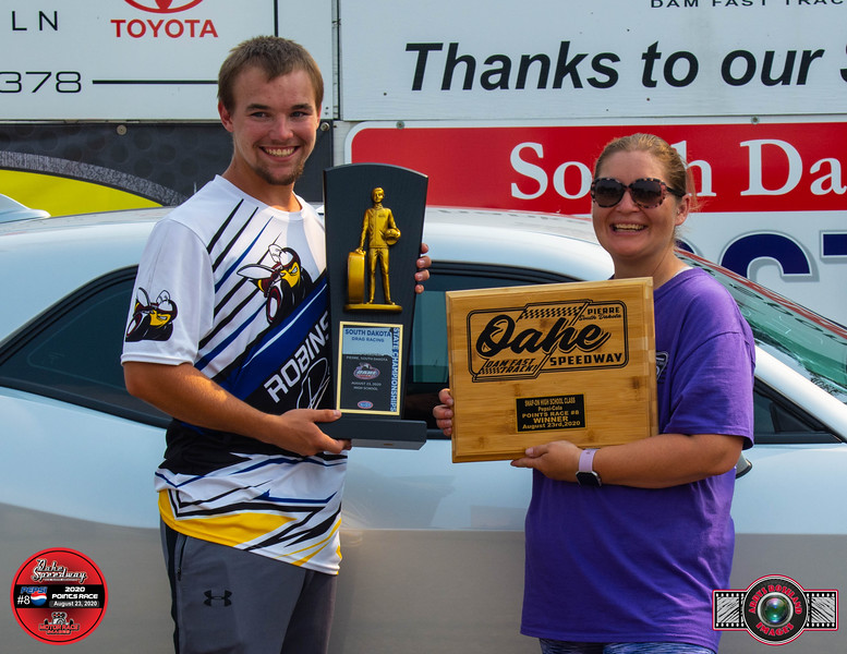 Dillon Robinson, Mitchell, SD  ~ Winner ~ South Dakota State Drag Racing High School Champion / Snap On High School Pepsi Pts #8