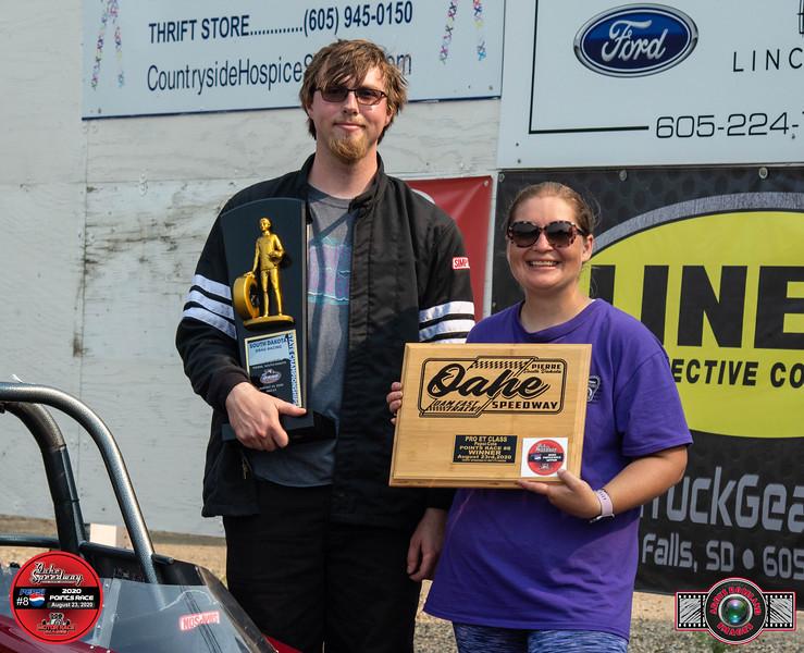 Jonathan Huse, Onida, SD ~ Winner  ~ South Dakota State Drag Racing  Super Pro Champion ~ Dale's Repair Super Pro Pepsi Pts #8