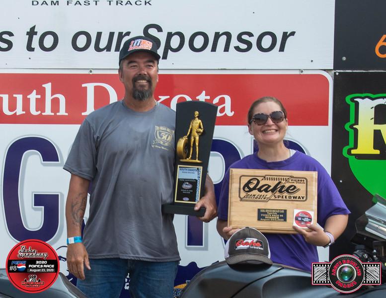 George Brown, Rapid City, SD ~ Winner ~ South Dakota State Drag Racing  Bike./Sled Champion / Diesel Services  Inc Bike/Sled Pepsi Pts #8