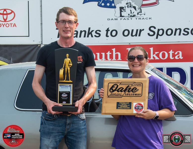 Boyce Kluting, Montpelier, ND ~ Winner ~ South Dakota State Drag Racing Sportsman Champion / Fearless Grain Mkting Sportsman  Pepsi pts #8