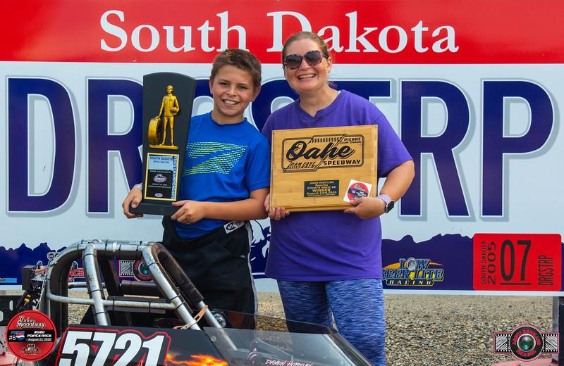 Damen Horsley, Pierre, SD ~ Winner ~ South Dakota State Drag Racing Minor Champion /Aberdeen Wings Junior Minor Pts #8