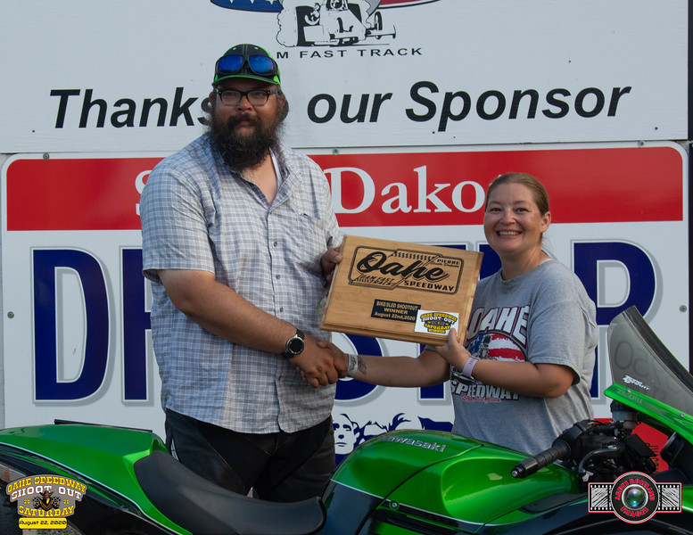 Ken Lawrence, Rapid City, SD ~ Winner ~ Oahe Speedway Bike/Sled Shootout