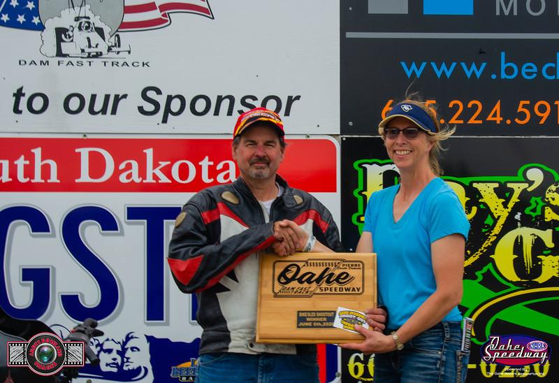 Richard Tadych, Gary, MN - Winner - 2020 Oahe Speedway Bike/Sled Shootout
