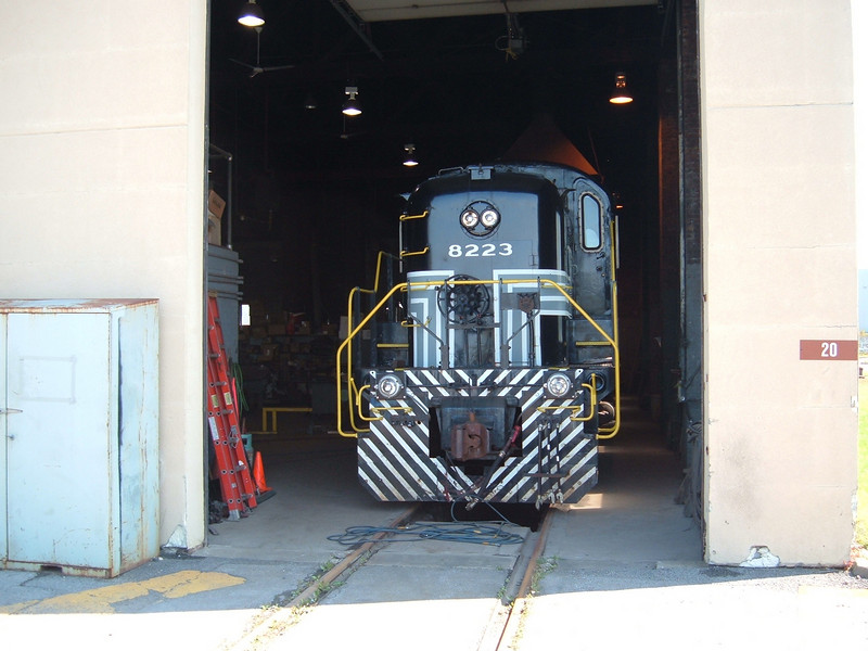 Alco 8223 in for Repairs at the Rome Enginehouse.