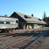 What a great station!  Lake Placid   yet the tree huggers want to turn this railroad into a bike trail...