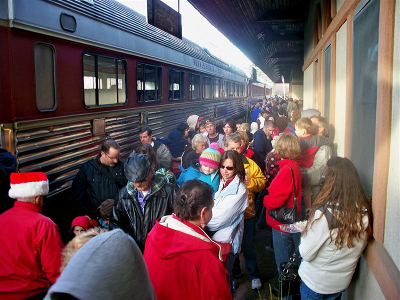 Annual Toys For Tots Train at Laconia, NH