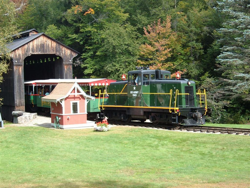 Diesel into the covered bridge!