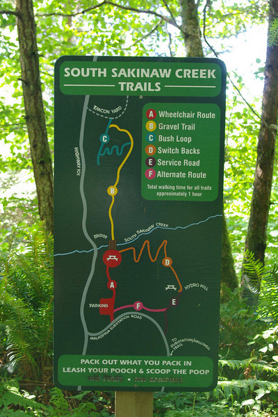 Trail map at the start.