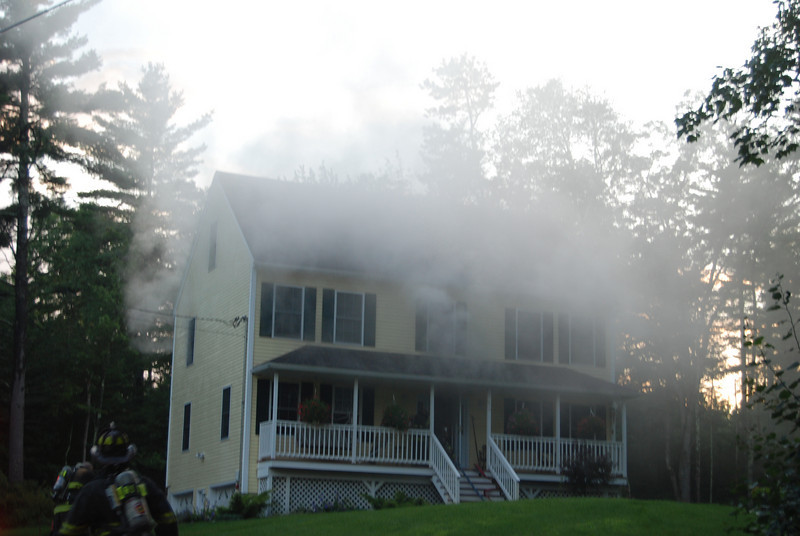 heavy smoke showing