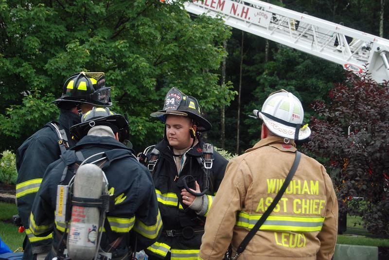 Windham Chief thanking crew