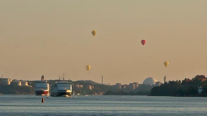 Baloons over Globe arena Stockholm