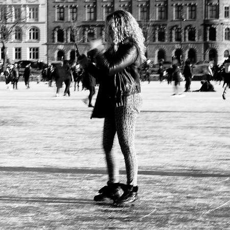 Woman on the ice