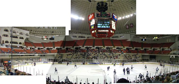 Panoramic views of arenas