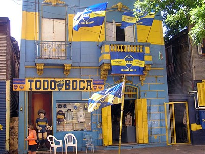 """Our tour spent some time in the """"La Boca"""" section of Argentina."""