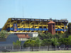Soccer stadium - Buenos Aires - Only place in the world that has black CocaCola signs because hated rivals team colors were red and white.