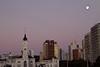 La Plata Plaza Moonrise, Argentina