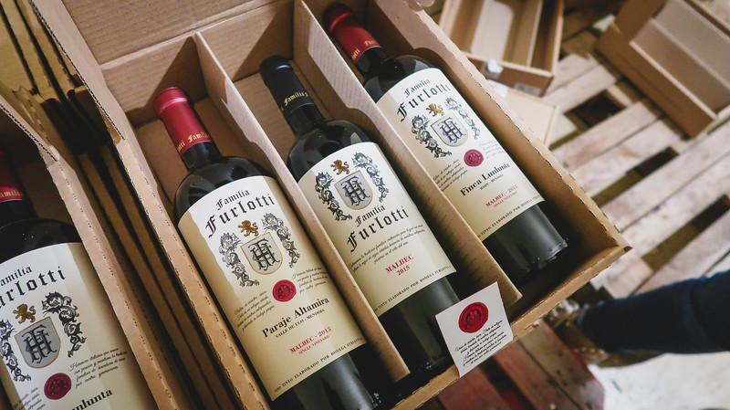 Wines from Bodega Furlotti in Mendoza.