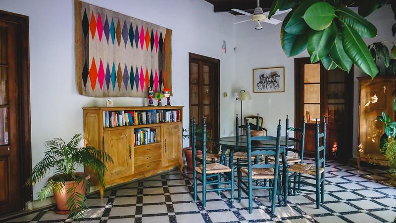 Communal area for guests at Finca Adalgisa