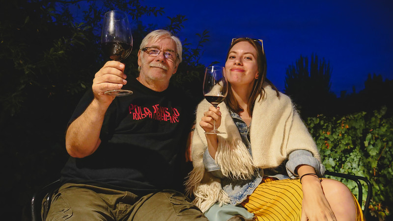 Complimentary wine tasting at Finca Adalgisa.