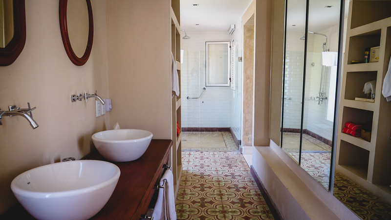 The massive bathroom in the suite