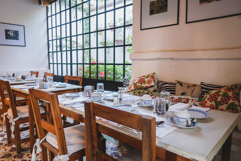 Breakfast room at Finca Adalgisa