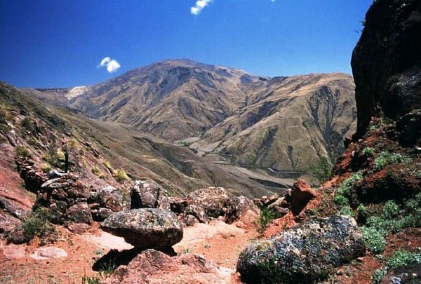 The Obispo pass (between Cachi and Salta) in the Encantado valley, Argentina. 1994 Argentina