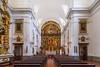 The Pilar Church interior sanctuary near the Recoleta Cemetery, Buenos Aires, Argentina, South America.