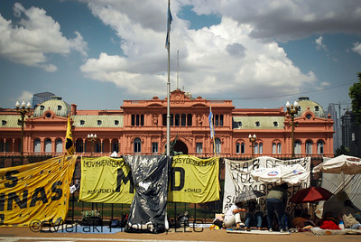 Plaza de Mayo - the main site for protests and activists
